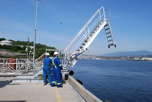 Marine Barge Accommodation Ladder.